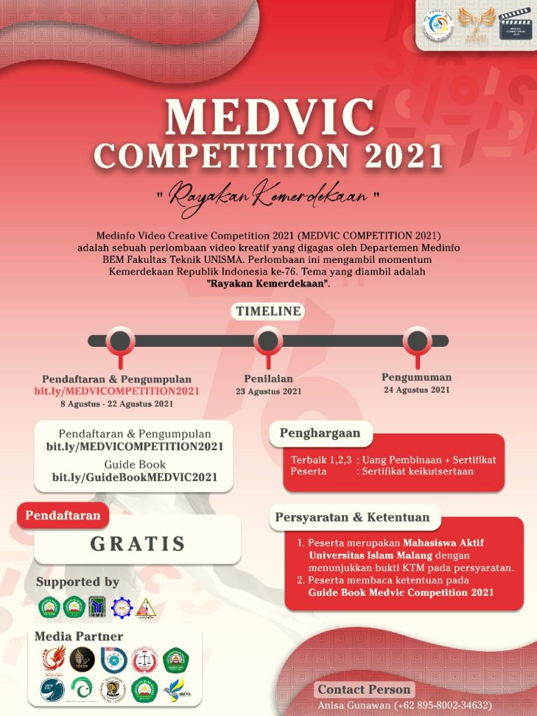Medinfo Video Creative Competition 2021 (MEDVIC COMPETITION 2021)